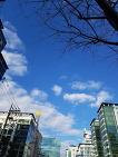 오늘 맑은 하늘 그리고 깨끗한 공기. 기분좋은 3월초