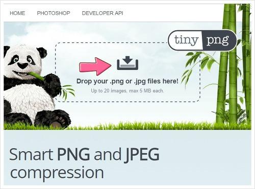 JPG, PNG 이미지 파일 용량 압축, 손실 대폭 방지 tinypng.com