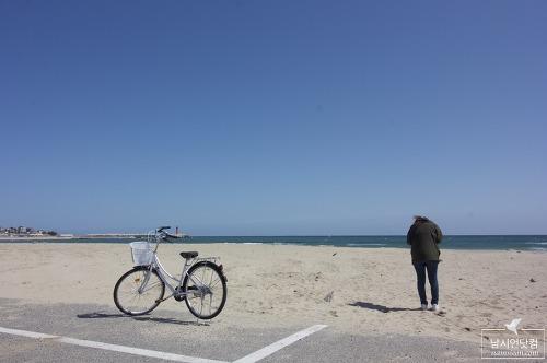 영덕 고래불해수욕장을 달리는 자전거 대여 체험