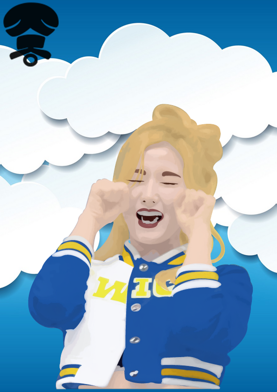 [일러스트] 트와이스[TWICE] - 사나 Cheer up