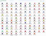 국가별 국기 아이콘 모음