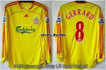 06/07 Liverpool Away L/S No.8 Gerrard Player Issue (SOLD OUT)