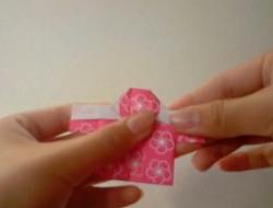 기모노 종이접기 동영상입니다.
