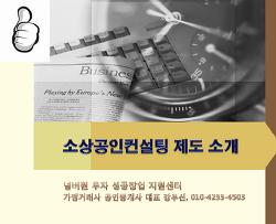 [ 동영상 강의 3 ] 소상공인 자영업자 경영지원 컨설팅 제도 소개