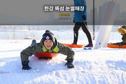 한강 뚝섬유원지 눈썰매장 (2017.01.22)