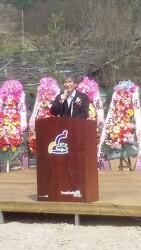 영월 박선규 군수님 과 환경부 산하 환경365 중앙회 회장님 (현판식)