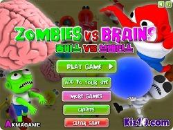 재밌는 플래시게임 [ 좀비 vs 브레인 ]