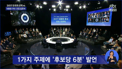 손석희 앵커가 진행한 JTBC 대선후보 토론회, JTBC 팩트체크와 함께 진행된 대선후보 TV토론회