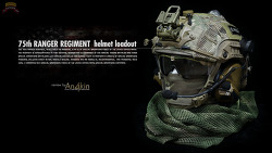 [헬멧] 75th RANGER REGIMENT helmet loadout.