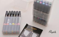 컬러링북을 위한 프리즈마 아트 24색 마카