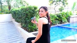 필리핀 현지친구의 샴푸광고 모델지원을 위해 찍은 프로필사진
