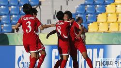 북, 17세 이하 여자 월드컵 8강 진출…두 번째 우승에 도전(영상있음)