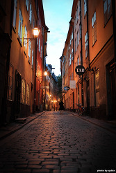 [스웨덴 스톡흘름 여행] 감라스탄의 밤거리