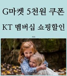 G마켓 5천원 할인쿠폰 받기! KT 멤버십 쇼핑 할인 소개