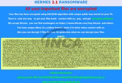 [악성코드 분석] Hermes 2.1 랜섬웨어 감염 주의