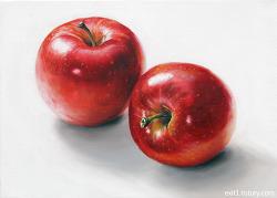[유화 정물화 / 수강생 작] 사과