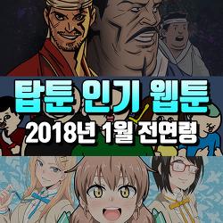 웹툰 사이트 추천 : 2018년 1월 탑툰 인기 추천 웹툰 순위 TOP10