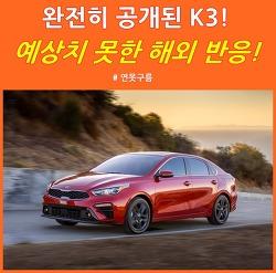베일벗은 기아차 K3! 예상을 뛰어넘는 해외 네티즌 반응!