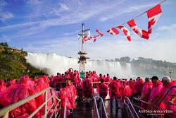 캐나다 나이아가라 폭포 크루즈, 쏟아지는 폭포 바로 앞에서 웅장함을 느낄 수 있는 ' 혼블로워 보트 투어' Hornblower Niagara Cruises with 드라이브 트래블