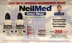 NeilMed 네일메드 사이너린스 코식염수 250팩 세척 2병 휴대용 스프레이 1병 세트/ 코막힘/ 비염/미세먼지/알레르기