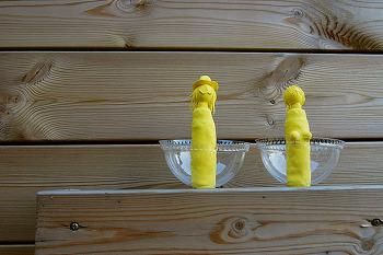 [지후나무작업실] 노란점토로 만든 지후표 스티브요니 동상
