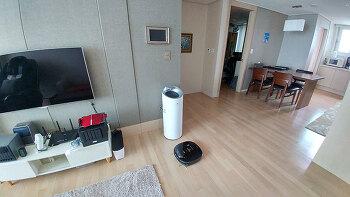 LG 로봇청소기 로보킹 VR6480VMNC 집안 험난한 환경 테스트