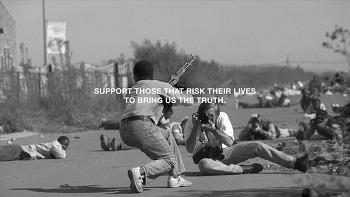 전쟁을 멋진 쇼로 포장하는 프로파간다(Propaganda)/체제선전물에 대항해, 전쟁의 실체를 보여주기 위해 노력하는 '국경없는 기자회(Reporters Without Borders)'를 후원하세요. 바이럴필름 '종군기자(War..