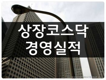 [상장코스닥 경영실적 보고서]엑셀리스트 sample