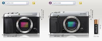 후지필름 X-E3와 X-E2s 크기 비교