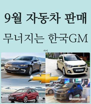 9월 자동차 판매량, 무너지는 한국GM