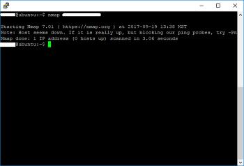Ubuntu 16.04 NMAP으로 포트스캔하기