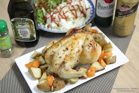 겨울 제철 과일 귤과 생닭을 이용한 오븐 요리, 초보 남편의 파티 메뉴 로스트 치킨 만들기