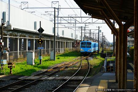 간사이여행 - 오미(近江)철도에서 JR타고 오츠(大津)역앞 도착후 알프라자 대형마트 저녁거리