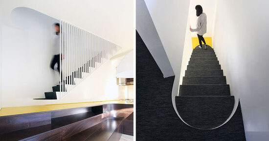 *무중력 계단 A Suspended Metal Staircase Was Designed As Part Of This 1970's Villa Renovation