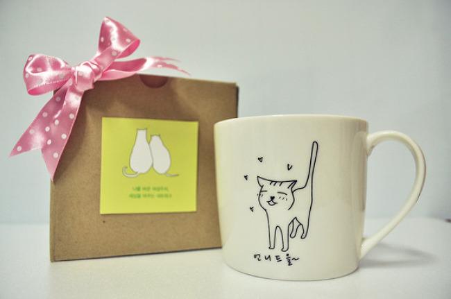 회원을 위한 고양이 머그컵+컵받침!