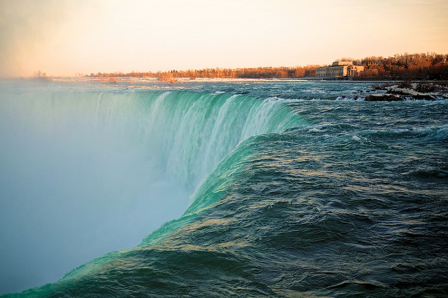 Sunset at Niagara Falls.