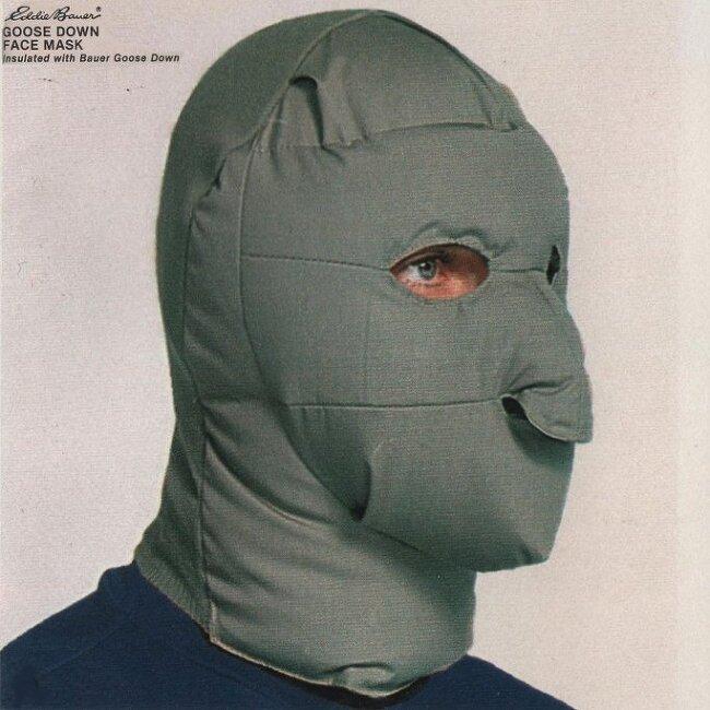 에디 바우어의 구스 다운 페이스 마스크
