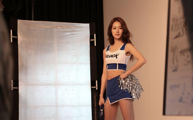 유록스 홍보모델, 치어리더 '박기량'과 함께하는 광고 촬영 현장 스케치!
