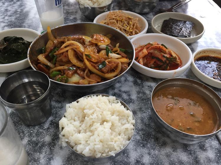 남구로역 맛집 유일식당 제육볶음 Stir-fried Po..