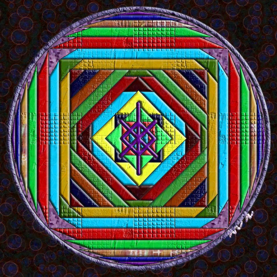 수호 보호(protection)의 바인드룬 만다라 Mandala(히란야)1a