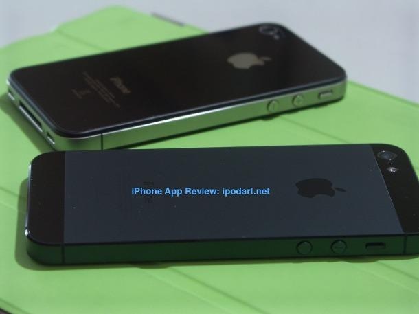아이폰5 아이폰4 비교샷