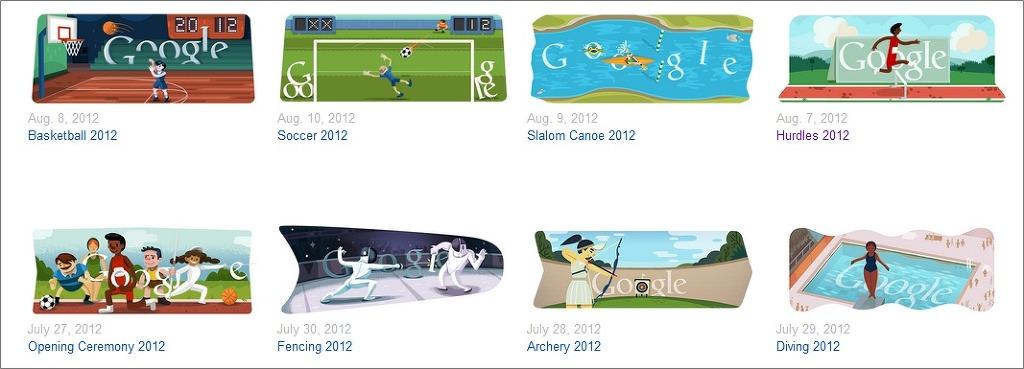 구글 메인에서 즐기는 런던올림픽 스포츠 게임 모두 보기