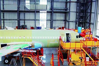 중국에서 조립 중인 A320