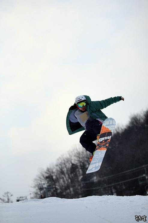 스노우보드 점프