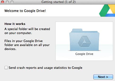 Google Drive Install 1