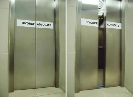 이혼 전문 변호사 사무실로 향하는 엘리베이터?