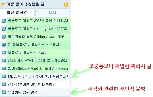 꿈틀꿈틀님의 글 올블로그가 함축해서 보여주는 한국인의 자화상 @ 2009/03/01 15:04에서 사진 발췌