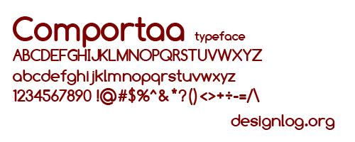 디자인 폰트 - Comportaa