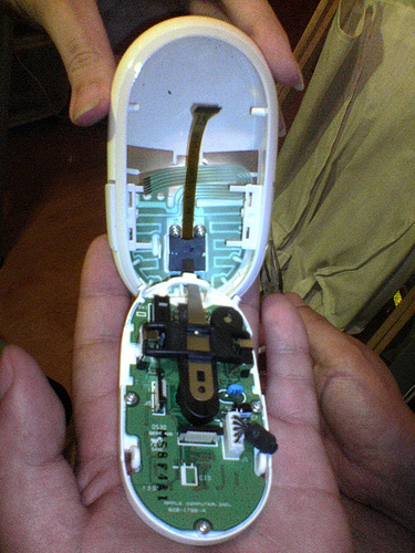 Touch Sensor Layout inside Apple's Mighty Mouse