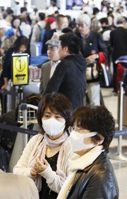 일본 공항, 검역 강화로 항공기 지연 속출